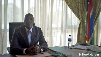 Abubacarr Tambadou, Justizminister aus Gambia (DW/V.Haiges)