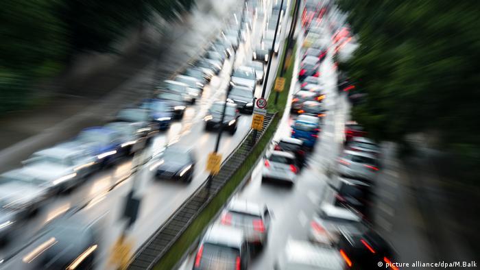 Straßenverkehr Stau Verkehrschaos