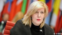 The OSCE Representative on Freedom of the Media, Dunja Mijatović, presenting her regular report at the OSCE Permanent Council, 26 November 2015.