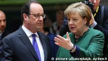EU Gipfel in Brüssel Angela Merkel mit Francois Hollande