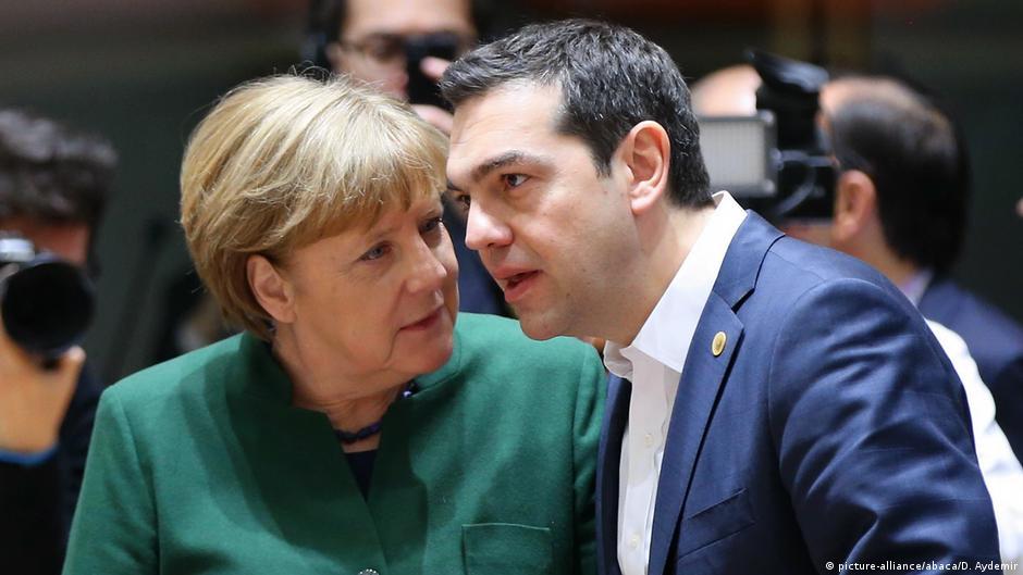 EU Gipfel in Brüssel Angela Merkel mit Alexis Tsipras