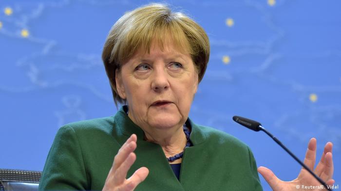 EU Gipfel in Brüssel Merkel PK Abschluss (Reuters/E. Vidal)