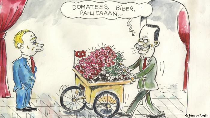 Karikatur Türkei-Russland-Beziehungen