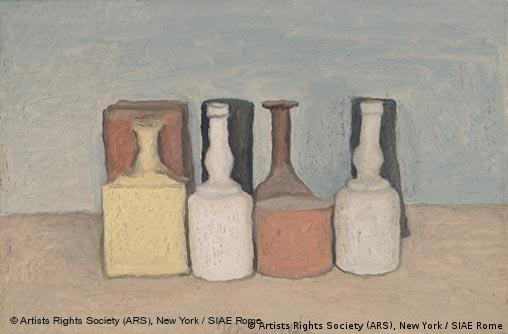 Oil on canvas; 11 7/8 x 17 3/4 in. (30 x 45 cm) Museo Morandi, Bologna © 2008 Artists Rights Society (ARS), New York / SIAE Rome