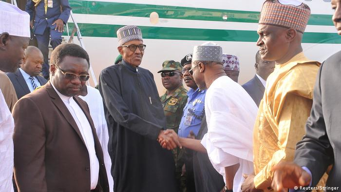 President Muhammadu Buhari returns from a medical trip in London