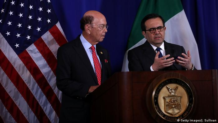 USA Washington - Wilburg Ross und Mexikos Wirtschaftsminister Ildefonso Guajardo (Getty Images/J. Sullivan)