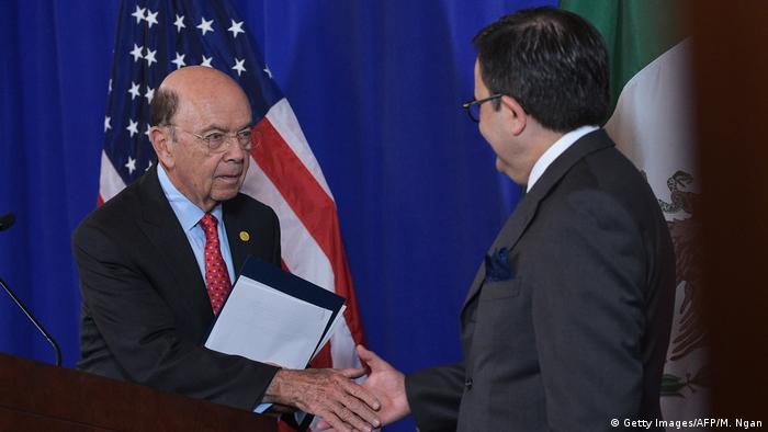 USA Washington - Wilburg Ross und Mexikos Wirtschaftsminister Ildefonso Guajardo (Getty Images/AFP/M. Ngan)