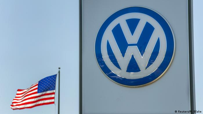 Volkswagen Logo Next To The Us Flag Reuters M Blake