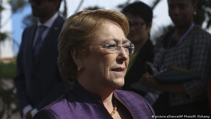 Marokko Marrakesch - Michelle Bachelet (picture-alliance/AP Photo/M. Elshamy)