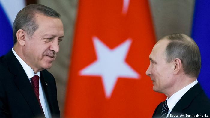 Turkish President Recep Tayyip Erdogan and Russian President Vladimir Putin (Reuters/A. Zemlianichenko)
