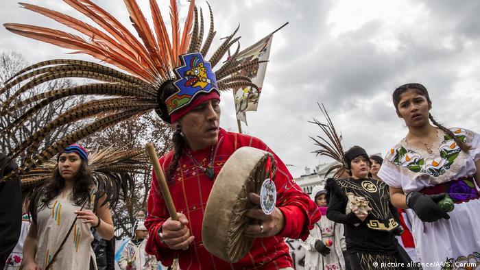 USA Indianer Marsch in Washington DC