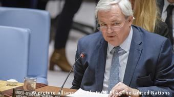 Stephen O'Brien vor dem Sicherheitsrat (picture alliance/AP Photo/M. Elias/The United Nations )