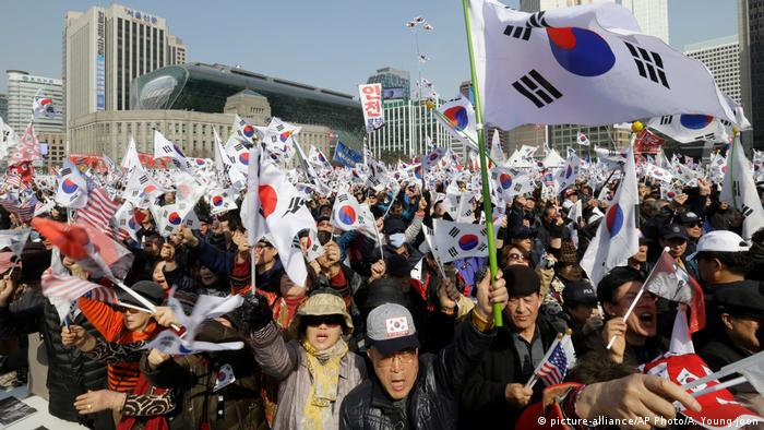 Proteste in Südkorea (picture-alliance/AP Photo/A. Young-joon)