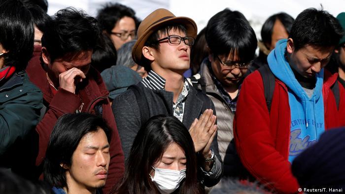 Jahrestag der Natur- und Atomkatastrophe von Fukushima Fukushima Jahrestag