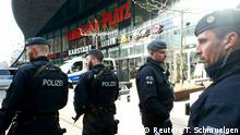 Police secures the area at Limbecker Platz shopping mall in Essen, Germany, March 11, 2017, after it was shut due to attack threat. REUTERS/Thilo Schmuelgen