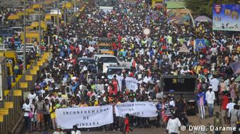 Protest in Bissau (DW/B. Darame)