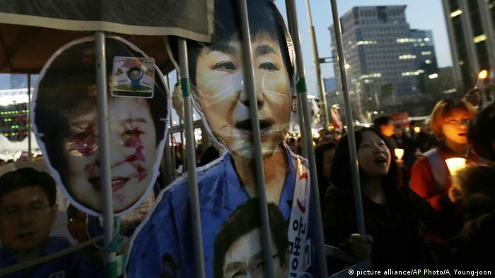 Südkorea Amtsenthebung von Südkoreas Präsidentin Park - Befürworter (picture alliance/AP Photo/A. Young-joon)
