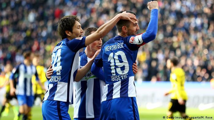 Fussball Bundesliga 24.Spieltag - Borussia Dortmund vs Hertha Berlin - 0:1 (Getty Images/Bongarts/M. Rose)