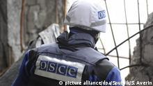 2825757 04/16/2016 Alexander Hug, the Principal Deputy Chief Monitor of the OSCE Special Monitoring Mission to Ukraine, is seen here during the installation of a surveillance camera at Oktyabrskaya coal mine in the area of Donetsk airport. Sergey Averin/Sputnik |