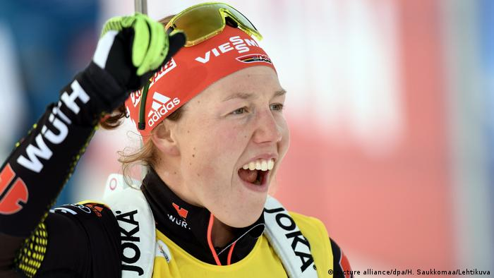IBU Biathlon World Cup - Laura Dahlmeier (picture alliance/dpa/H. Saukkomaa/Lehtikuva)