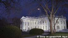 TOPSHOT - A January 12, 2016 photo shows the White House at dusk in Washington, DC. US President Barack Obama is set to deliver his final State of the Union address this evening. AFP PHOTO/MANDEL NGAN / AFP / MANDEL NGAN (Photo credit should read MANDEL NGAN/AFP/Getty Images)