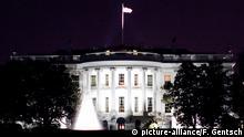 Blick auf die Front vom Weißen Haus am Samstag (09.01.2010) im US-amerikanischen Washington D.C.. Das Gebäude ist der Amtssitz des Präsidenten der Vereinigten Staaten. Foto: Friso Gentsch | Verwendung weltweit