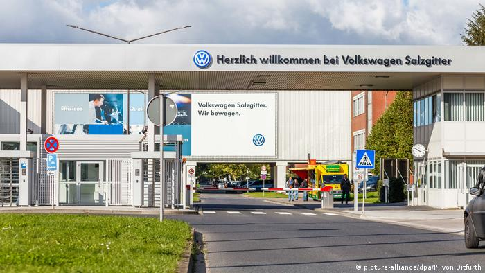 Picture of the entrance of Volkswagen's Salzgitter plant