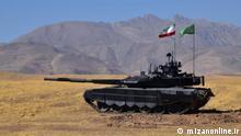 Der erste iranische Panzer Karrar. Quelle: http://www.mizanonline.ir/files/fa/news/1395/12/22/1042157_602.jpg