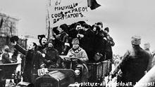 30176 02/27/1917 Militia unit being driven along Kiev street in the 1917 Revolution time RIA Novosti/Sputnik  