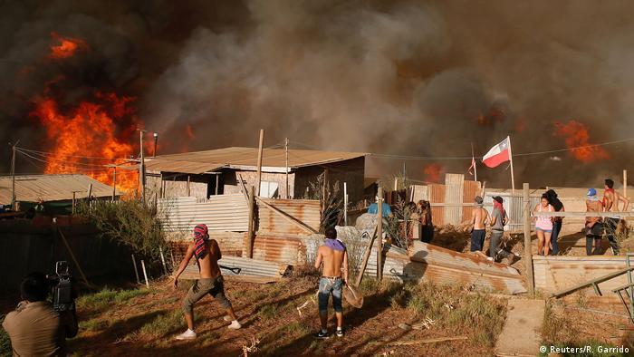 Chile Waldbrände in Vina del Mar
