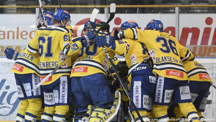Norwegische Eishockey-Teams mit Rekord (picture-alliance/dpa/NTB scanpix/F. Olastuen)