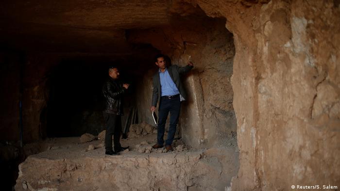 Irak Mossul IS versteckt Artefakte in Tunnelnetzwerk (Reuters/S. Salem)