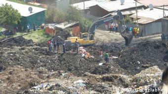 Äthiopien Erdrutsch in einer Mülldeponie in Addis Abeba
