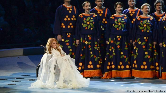 Julia Samoilova at the Paralympics in Sochi, 2014 (picture-alliance/dpa/E. Lyzlova)