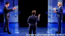 TV Debatte in den Niederlande Rutte Wilders