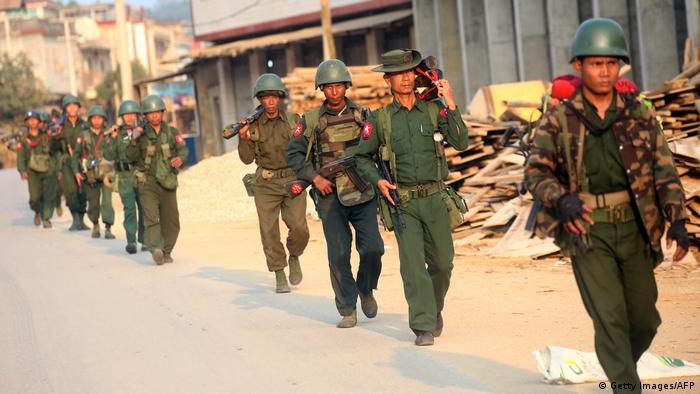 Myanmar Soldaten in Laukkai (Getty Images/AFP)