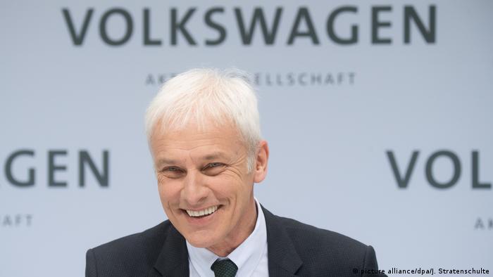 El director ejecutivo del consorcio automotor alemán Volkswagen, Matthias Müller, es investigado por presunta manipulación del mercado en el marco del escándalo de los motores diésel. 17.05.2017