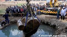 Ägypten Fund einer Ramses-Statue in Cairo