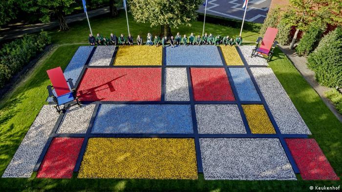 Mondrian-Designbeet Keukenhof (Keukenhof)