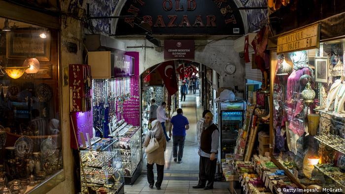 Türkei Großer Basar in Istanbul Geschäfte
