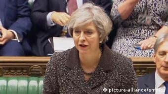 Großbritannien Theresa May Statement im Unterhaus zum Brexit
