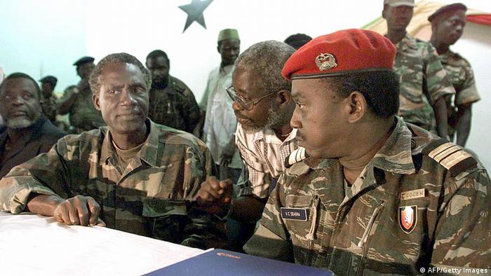 Guinea-Bissau Ansumane Mane und Verissimo Seabra Correia am Luftstützpunkt Bissalanka