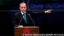 Türkei Erdogan Rede im Bestepe Zentrum in Ankara