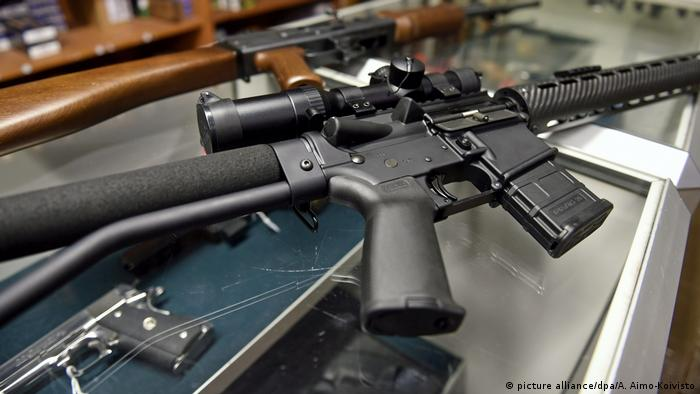 A semi-automatuic rifle