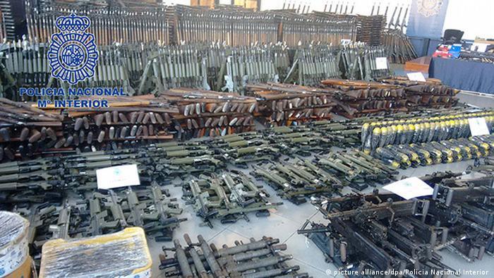 Riesiges Waffenarsenal in Spanien ausgehoben (picture alliance/dpa/Policia Nacional Interior )