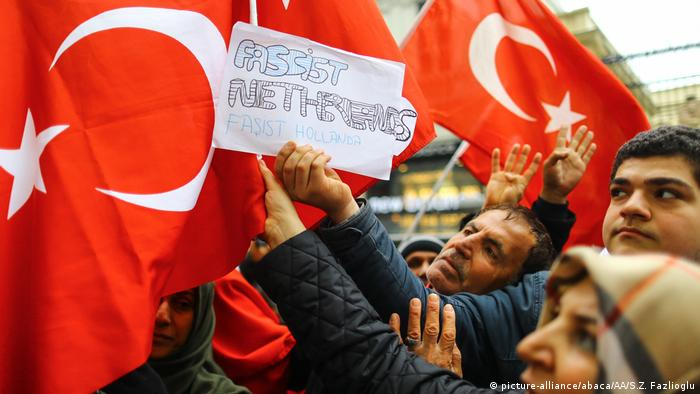 Pro-Turkish protests in the Netherlands (picture-alliance/abaca/AA/S.Z. Fazlioglu)