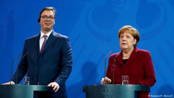 Predsjednik Srbije prilikom posjete Berlinu u martu 2017. godine. Tada je još uvijek bio premijer.