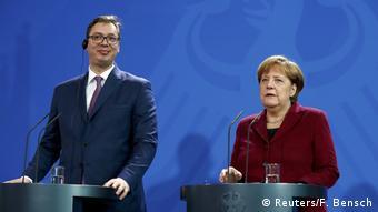 Deutschland Angela Merkel und Aleksandar Vucic