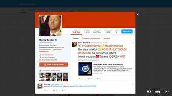 Screenshot Twitter Boris Becker Türkei