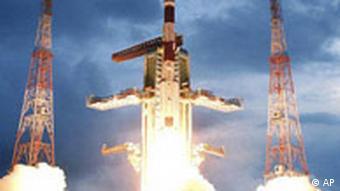 Indien Mond Rakete Raumfahrt